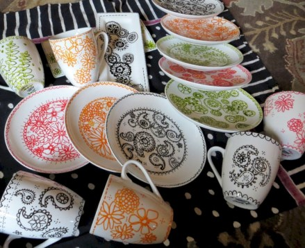 Diy sharpie dinnerware ideas 32