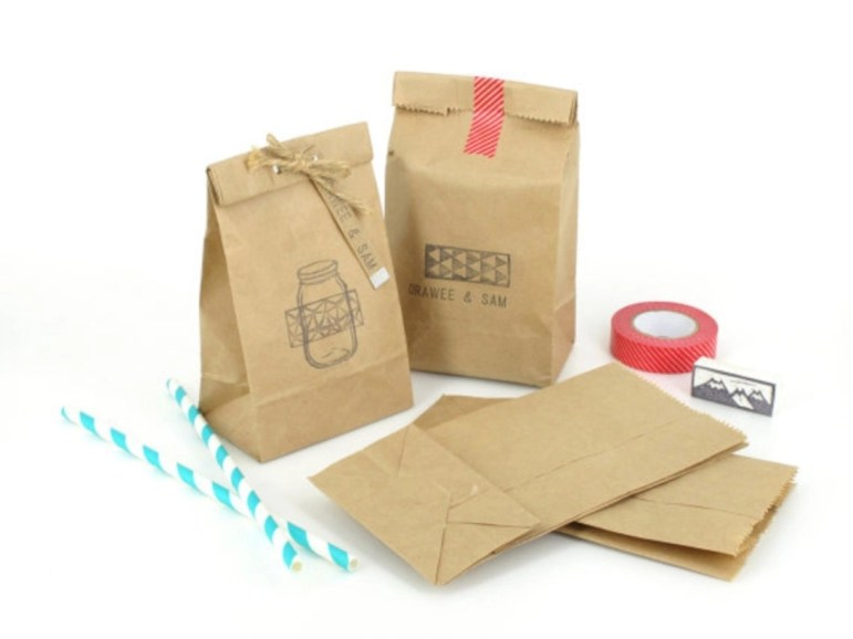 Diy small gift bags using washi tape (12)