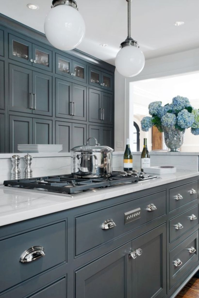 15 Grey Kitchen Cabinet Makeover Ideas Godiygo Com
