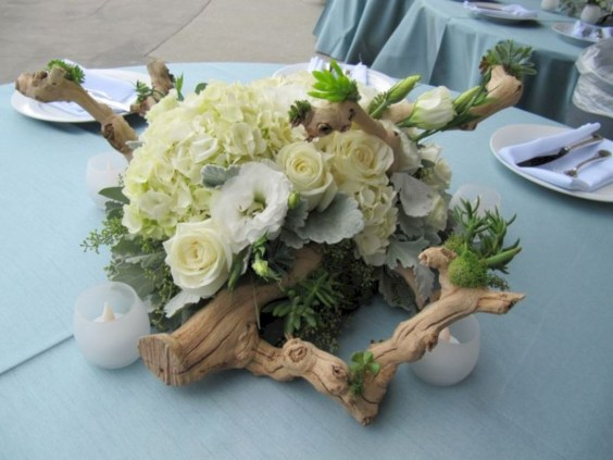 Ideas to arrange your succulent with driftwood 21