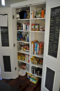 Inspiring ways to use a chalkboard paint on a kitchen 03