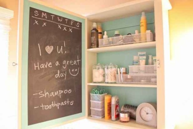 Inspiring ways to use a chalkboard paint on a kitchen 07
