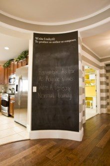 Inspiring ways to use a chalkboard paint on a kitchen 12
