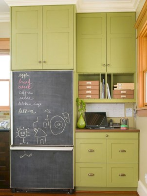 Inspiring ways to use a chalkboard paint on a kitchen 23