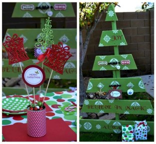 Ways to make your own christmas tree from pallet wood 15