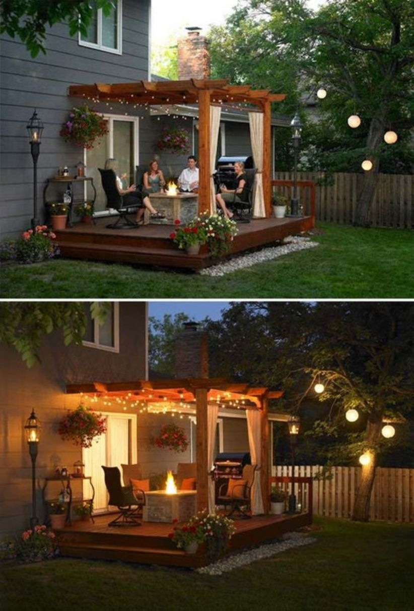 Backyard and patio lighting projects