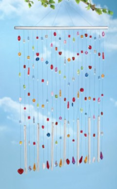Beautiful beaded wind chime to add sparkle to the garden 06