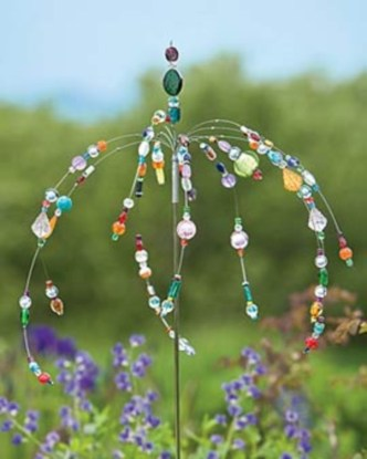 Beautiful beaded wind chime to add sparkle to the garden 24