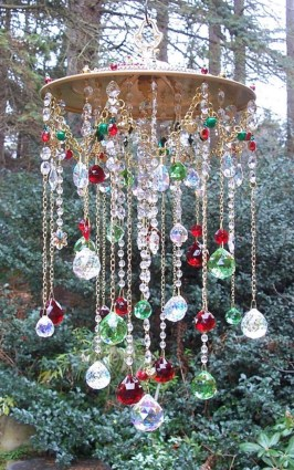 Beautiful beaded wind chime to add sparkle to the garden 30