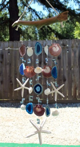 Beautiful beaded wind chime to add sparkle to the garden 43