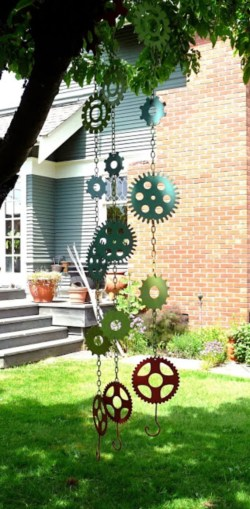 Beautiful beaded wind chime to add sparkle to the garden 45