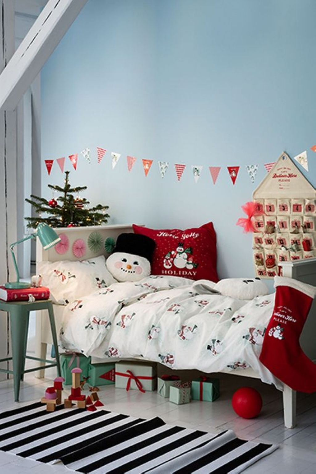 Children were nestled all snug in their beds, while holiday décor danced in their heads