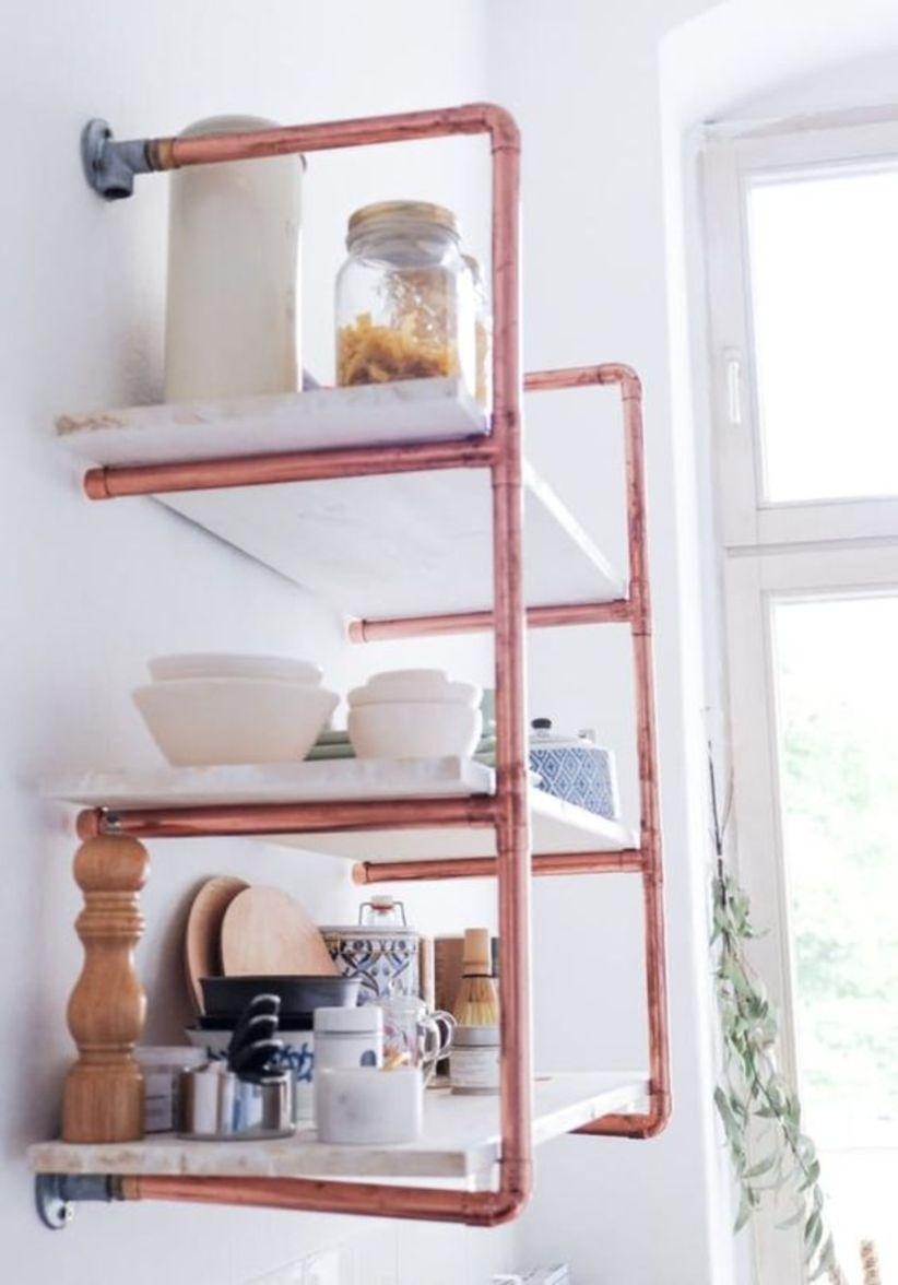 Copper storage doable diy details for your kitchen