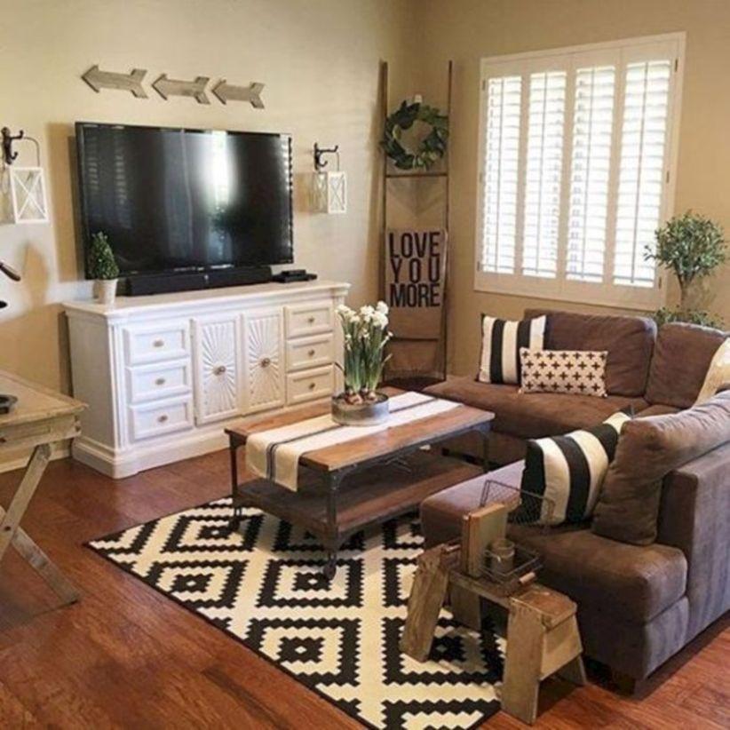 Diy art shabby chic living room decor ideas with farmhouse style