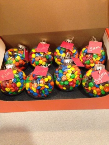 Diy candy filled ornaments for gift christmas