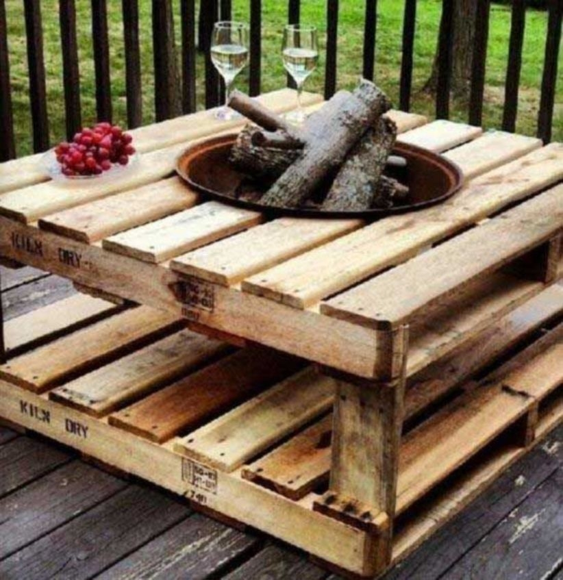 Diy pallet projects ideas for fireplace outdoor