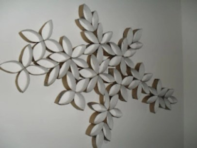 Diy paper roll wall art to beautify your home 02