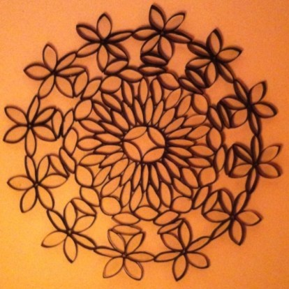 Diy paper roll wall art to beautify your home 15