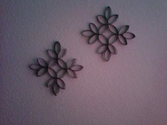 Diy paper roll wall art to beautify your home 26
