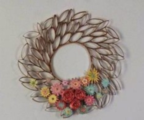 Diy paper roll wall art to beautify your home 27