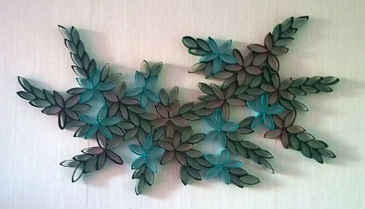 Diy paper roll wall art to beautify your home 33