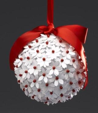 Diy ribbon ornament for christmas 34