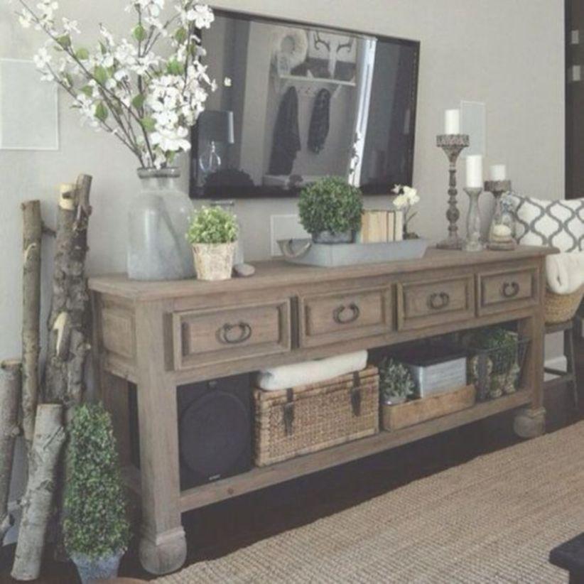 Diy shabby chic farmhouse living room decor ideas