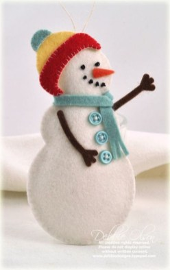 Diy snowman ornament for christmas 06