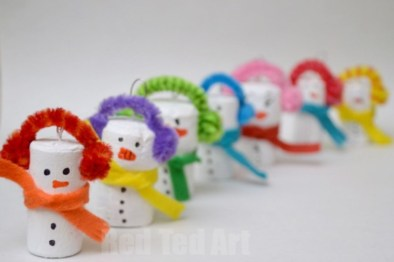 Diy snowman ornament for christmas 13