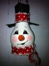 Diy snowman ornament for christmas 19
