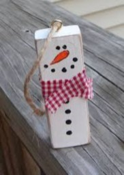 Diy snowman ornament for christmas 22