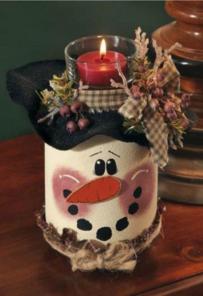 Diy snowman ornament for christmas 33