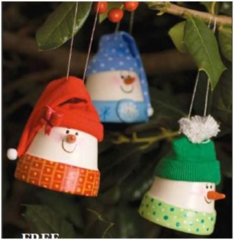 Diy snowman ornament for christmas 35