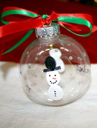 Diy snowman ornament for christmas 36