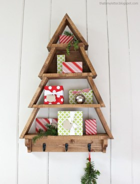 Diy wall christmas tree to save your space 17