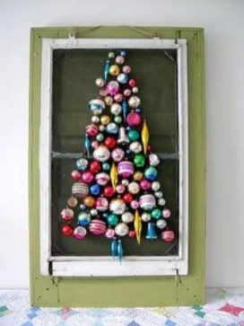 Diy wall christmas tree to save your space 34