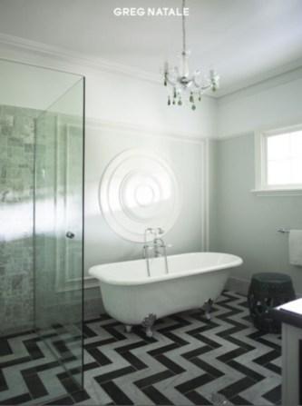 Elegant black herringbone tiles for your space 06