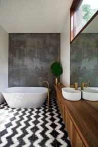 Elegant black herringbone tiles for your space 14