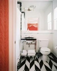 Elegant black herringbone tiles for your space 20