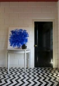 Elegant black herringbone tiles for your space 31