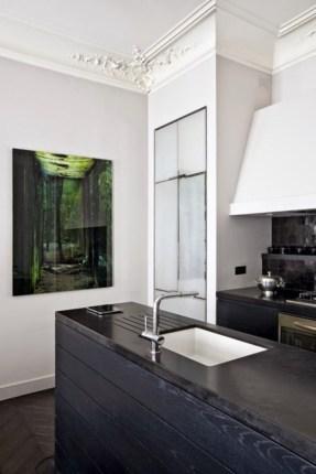 Elegant black herringbone tiles for your space 34