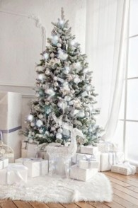 Elegant decorating ideas for white christmas 06