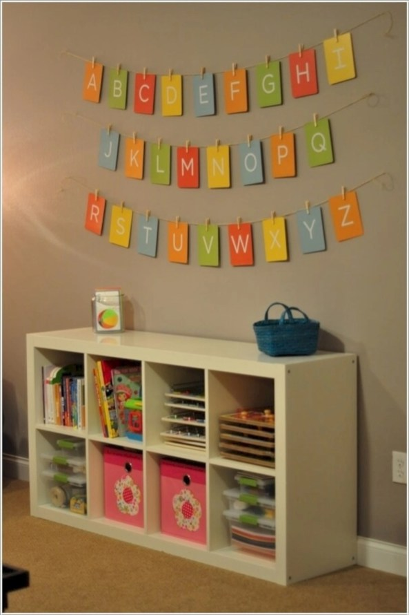Fun and easy way to decorate your playroom (31)