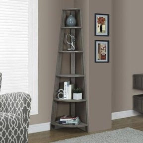 Ideas to decorate your corner space with unique corner shelf 10