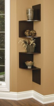 Ideas to decorate your corner space with unique corner shelf 18
