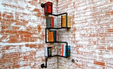 Ideas to decorate your corner space with unique corner shelf 25