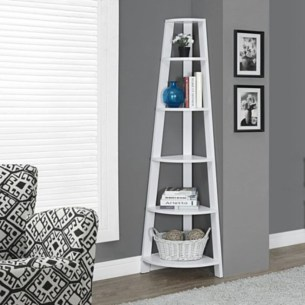Ideas to decorate your corner space with unique corner shelf 36