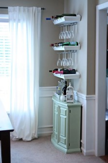 Ideas to decorate your corner space with unique corner shelf 39