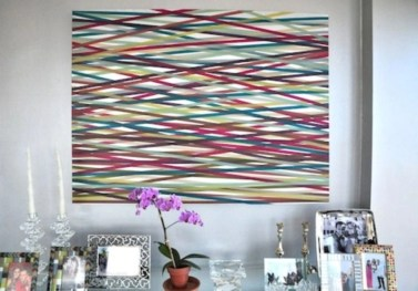 Make your own string art that look artsy for your space 05