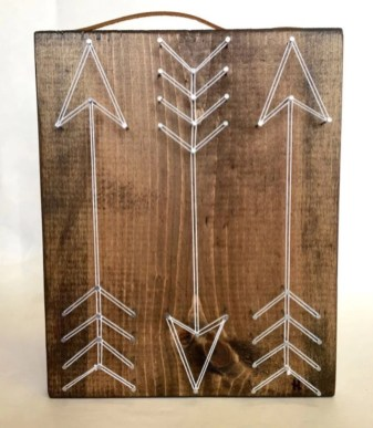Make your own string art that look artsy for your space 09